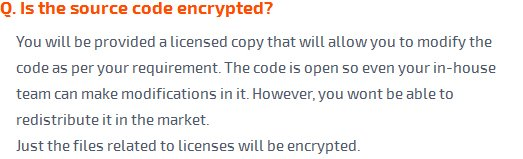 Is the source code encrypted?