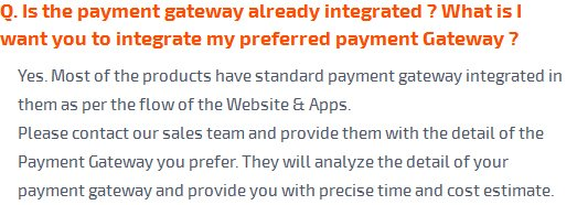 Is the payment gateway already integrated?