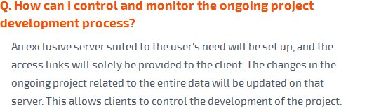 How can i control and monitor the ongoing project development process?