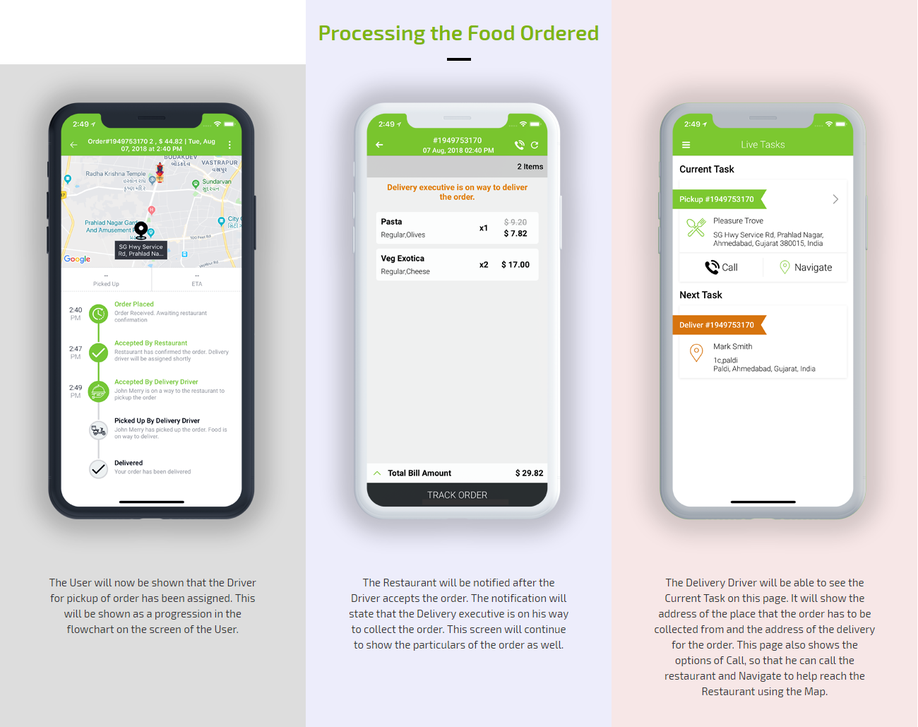 food order processing