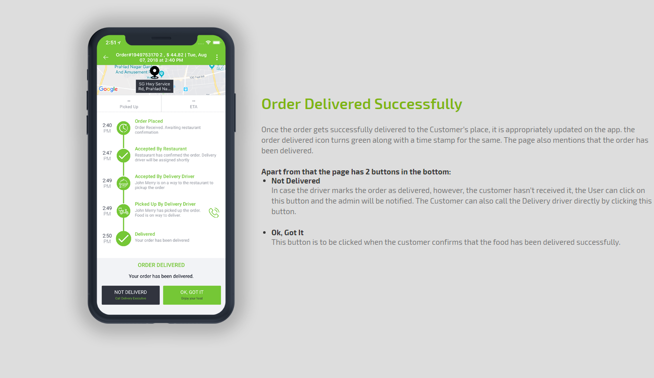 order delivered successfully