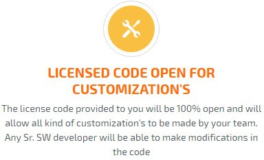 licensed code open for customization's
