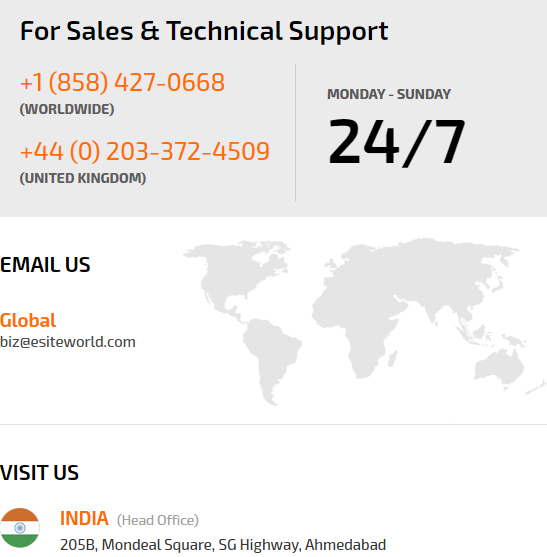 sales and technical support