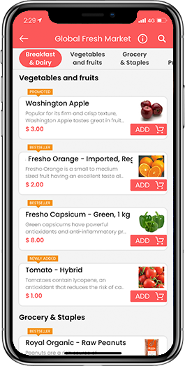 grocery delivery service app