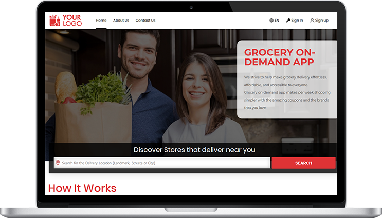 On Demand Grocery Web Panel's Included