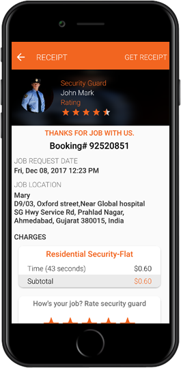 On Demand Security Guard iPhone Apps
