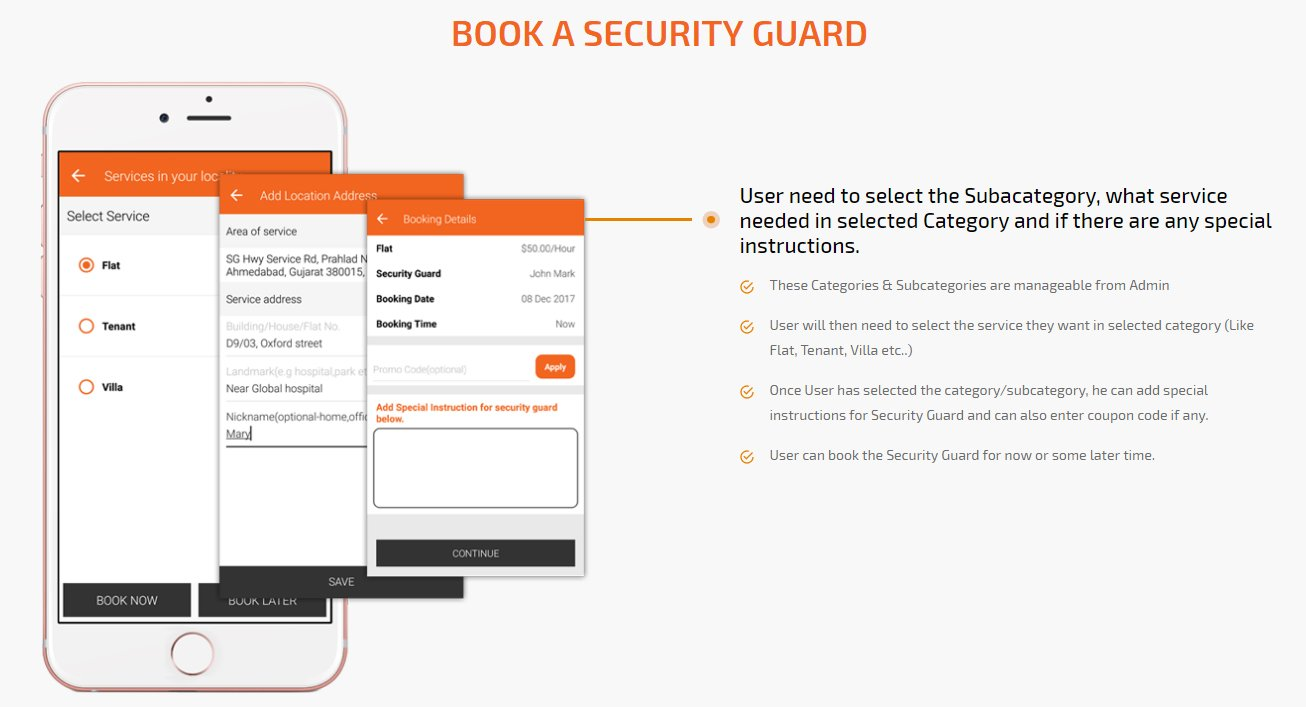 client book a security-guard therapist