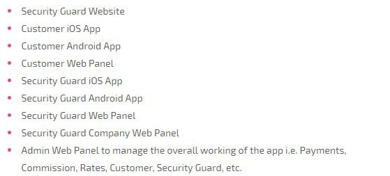 On demand security guard app perfect script