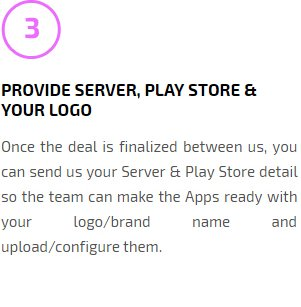 Provide Server, Play Store & your Logo